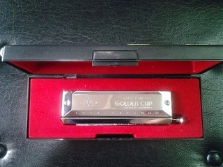 Kèn Harmonica Chromatic Golden Cup - 12 lỗ